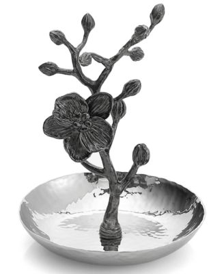 Black Orchid Ring Holder