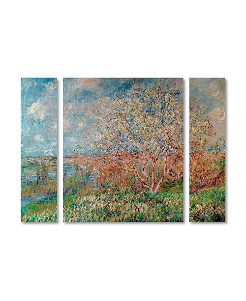 "Trademark Global Claude Monet 'Spring 1880' Multi Panel Art Set Small - 32"" x 24"""