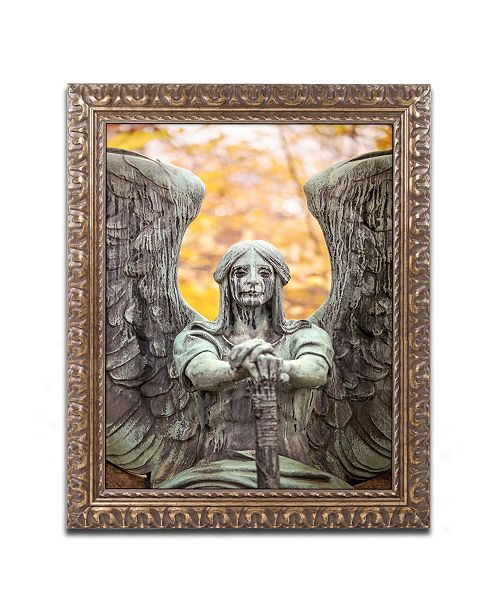 "Trademark Global Jason Shaffer 'Angel of Death Victorious' Ornate Framed Art - 11"" x 14"""