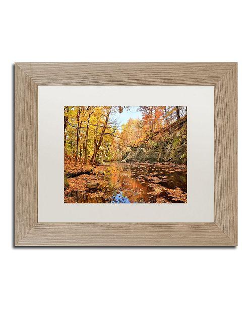 "Trademark Global Jason Shaffer 'Beaver Creek 2' Matted Framed Art - 14"" x 11"""