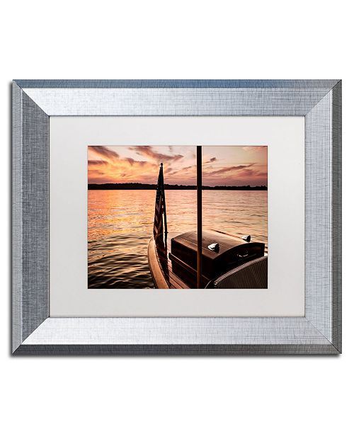 "Trademark Global Jason Shaffer 'Chippewa Lake' Matted Framed Art - 14"" x 11"""