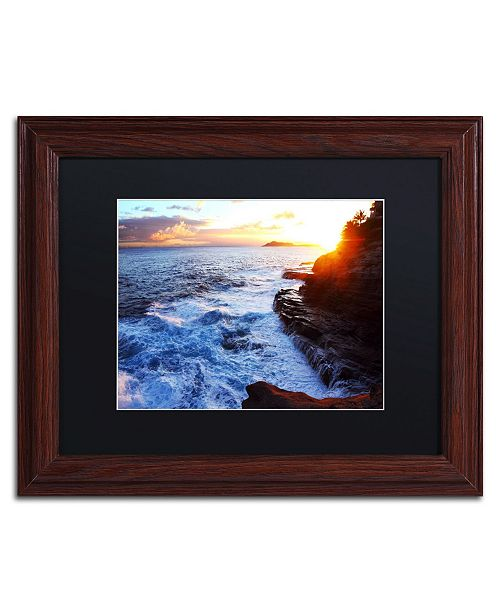 "Trademark Global Jason Shaffer 'Hawaii 4' Matted Framed Art - 14"" x 11"""