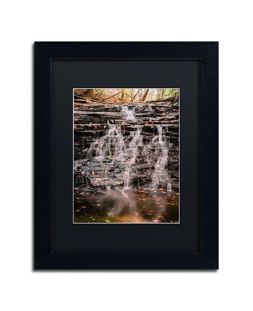 """Trademark Global Jason Shaffer 'Hidden Falls' Matted Framed Art - 11"""" x 14"""""""