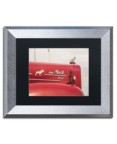 "Trademark Global Jason Shaffer 'Mack Truck 2' Matted Framed Art - 14"" x 11"""
