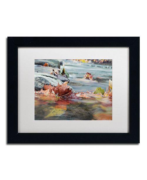 "Trademark Global Jason Shaffer 'Maple Creek' Matted Framed Art - 14"" x 11"""
