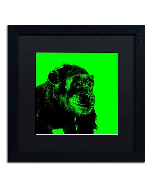 "Trademark Global Claire Doherty 'Chimp No 5' Matted Framed Art - 16"" x 16"""