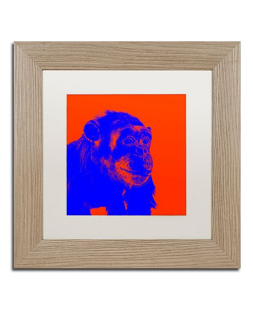 "Trademark Global Claire Doherty 'Chimp No 6' Matted Framed Art - 11"" x 11"""