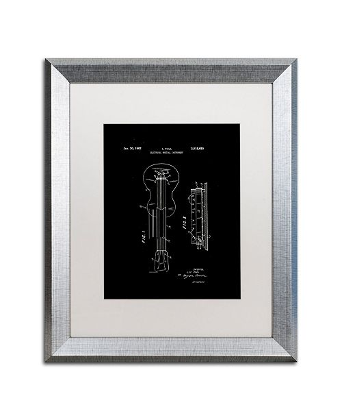 """Trademark Global Claire Doherty 'Gibson Electric Guitar Patent Black' Matted Framed Art - 16"""" x 20"""""""