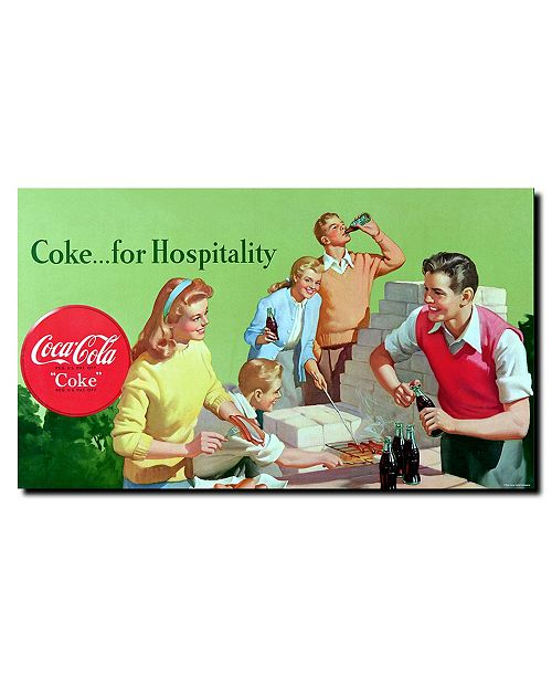 """Trademark Global Coke for Hospitality Stretched Canvas Art - 24"""" x 14"""""""