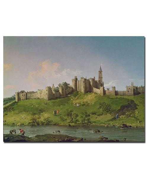 "Trademark Global Canaletto 'Alnwick Castle' Canvas Art - 47"" x 35"""
