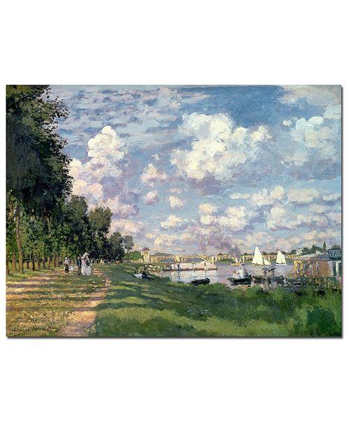 "Trademark Global Claude Monet 'The Marina at Argenteuil, 1872' Canvas Art - 47"" x 35"""