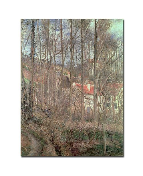 "Trademark Global Camille Pissarro 'Cote des Boeufs, 1877' Canvas Art - 47"" x 35"""