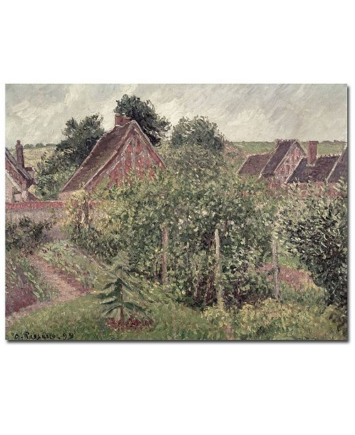 """Trademark Global Camille Pissarro 'Landscape with Cottage Roofs 1889' Canvas Art - 32"""" x 26"""""""