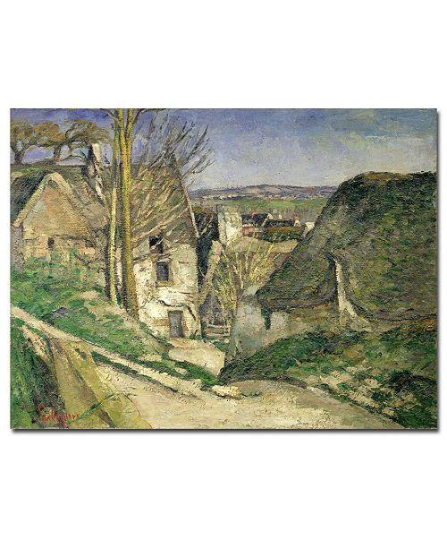 "Trademark Global Paul Cezanne 'The House of the Hanged Man' Canvas Art - 32"" x 26"""