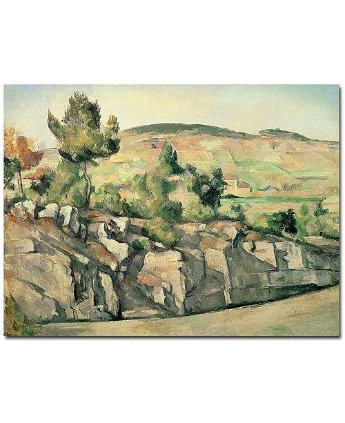 "Trademark Global Paul Cezanne 'Hillside in Provence 1886' Canvas Art - 24"" x 18"""