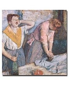 "Edgar Degas 'The Laundresses, 1884' Canvas Art - 35"" x 35"""
