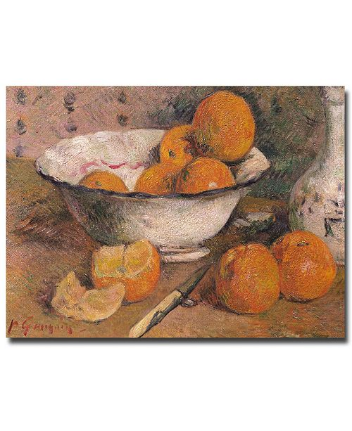 "Trademark Global Paul Gauguin 'Still Life with Oranges 1881' Canvas Art - 32"" x 24"""