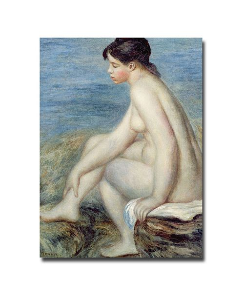 "Trademark Global Pierre Auguste Renoir 'Seated Bather' Canvas Art - 32"" x 24"""