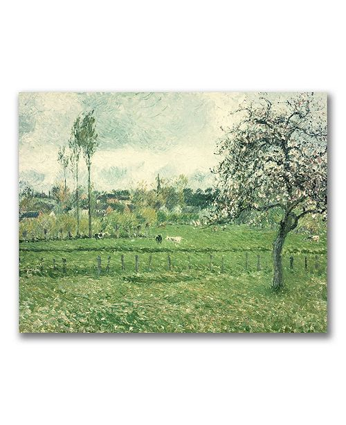 "Trademark Global Camille Pissarro 'Meadow at Eragny 1885' Canvas Art - 24"" x 18"""