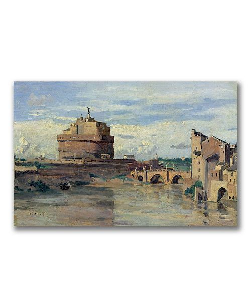 "Trademark Global Jean Baptiste Corot 'Castel Sant' Angelo' Canvas Art - 32"" x 18"""