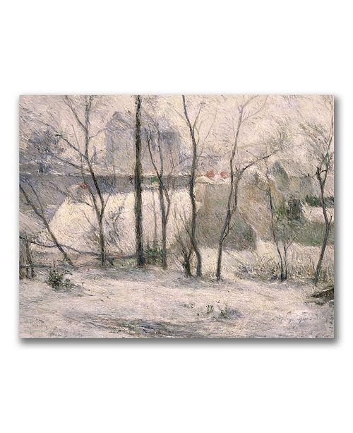 """Trademark Global Paul Gauguin 'Winter Landscape' Canvas Art - 47"""" x 30"""""""