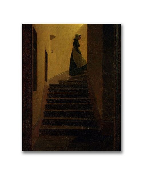 "Trademark Global Caspar Friedrich 'Caroline on the Stairs' Canvas Art - 24"" x 18"""