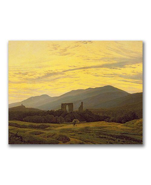 "Trademark Global Caspar Friedrich 'Ruins in the Riesengebirge' Canvas Art - 32"" x 24"""