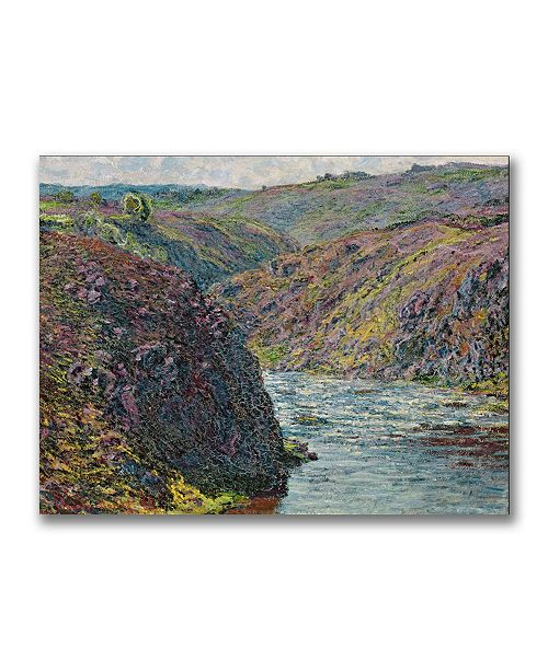 "Trademark Global Claude Monet 'Ravines of the Creuse' Canvas Art - 32"" x 24"""