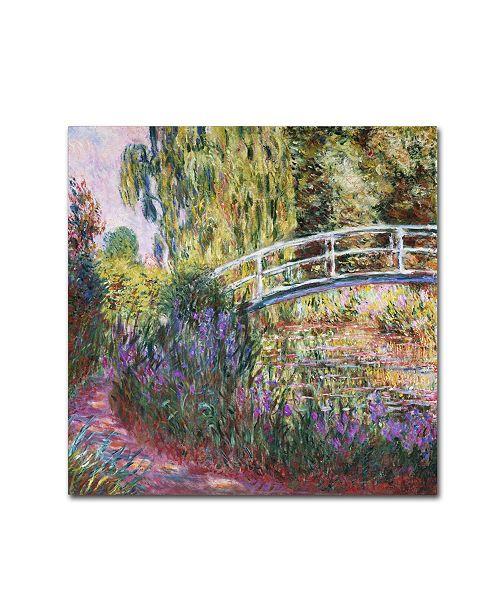 "Trademark Global Claude Monet 'The Japanese Bridge IV' Canvas Art - 24"" x 24"""