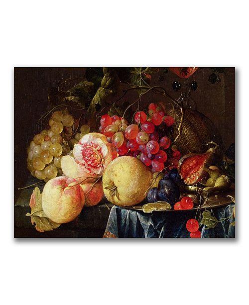"Trademark Global Cornelis de Heem 'Still Life II' Canvas Art - 24"" x 18"""