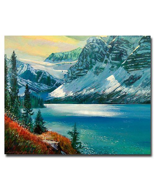 "Trademark Global David Lloyd Glover 'Majestic Bow River' Canvas Art - 32"" x 26"""