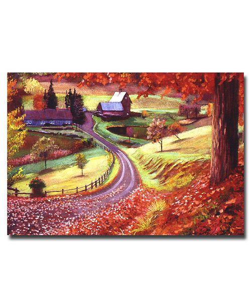 "Trademark Global David Lloyd Glover 'Road to Maplegrover Farms' Canvas Art - 47"" x 30"""