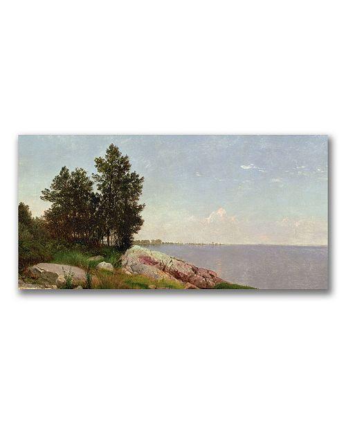 """Trademark Global John Kensett 'Long Island Sound at Darien' Canvas Art - 47"""" x 24"""""""