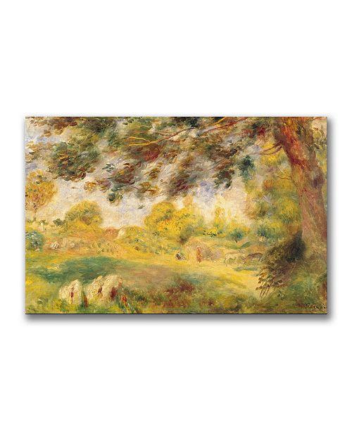 "Trademark Global Pierre Auguste Renoir 'Spring Landscape' Canvas Art - 32"" x 22"""