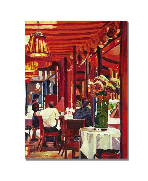 "Trademark Global David Lloyd Glover 'Chez Parisian' Canvas Art - 47"" x 35"""