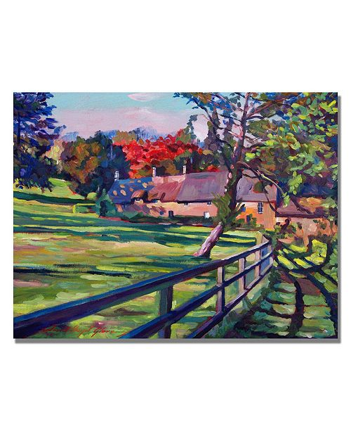 "Trademark Global David Lloyd Glover 'Country House' Canvas Art - 32"" x 24"""