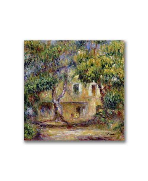 "Trademark Global Pierre Auguste Renoir 'The Farm at Les Collettes' Canvas Art - 14"" x 14"""