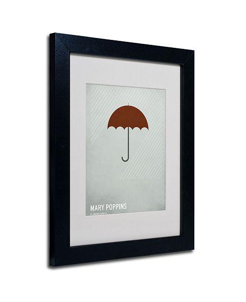 "Trademark Global Christian Jackson 'Mary Poppins' Matted Framed Art - 14"" x 11"""