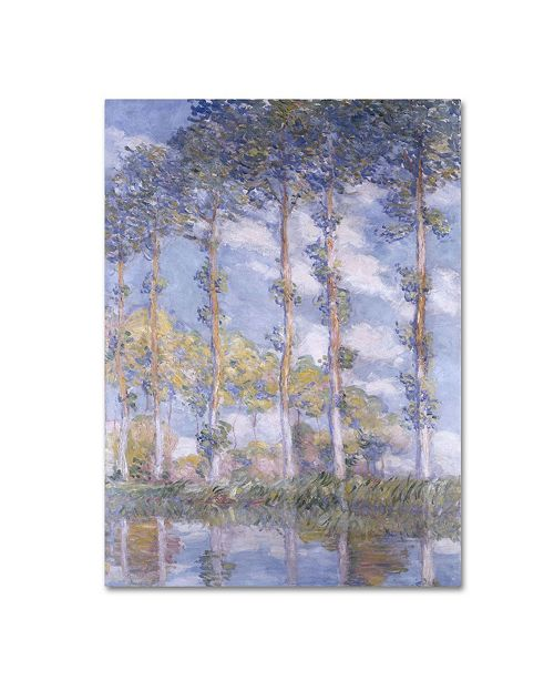 "Trademark Global Claude Monet 'The Poplars' Canvas Art - 19"" x 10"""