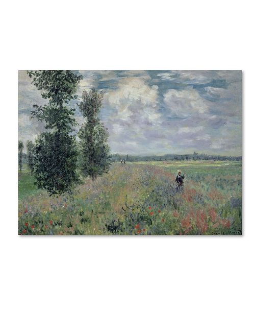 "Trademark Global Claude Monet 'The Poppy Field' Canvas Art - 32"" x 24"""