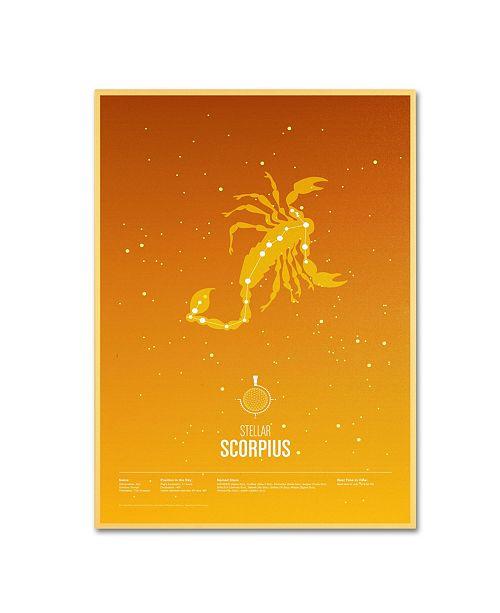 "Trademark Global Christian Jackson 'Scorpio' Canvas Art - 24"" x 16"""