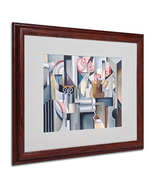 """Trademark Global Catherine Abel 'Still Life With Brown Jug' Matted Framed Art - 20"""" x 16"""""""
