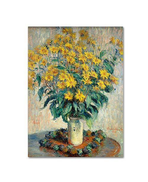 "Trademark Global Claude Monet 'Jerusalem Artichoke Flowers' Canvas Art - 32"" x 24"""