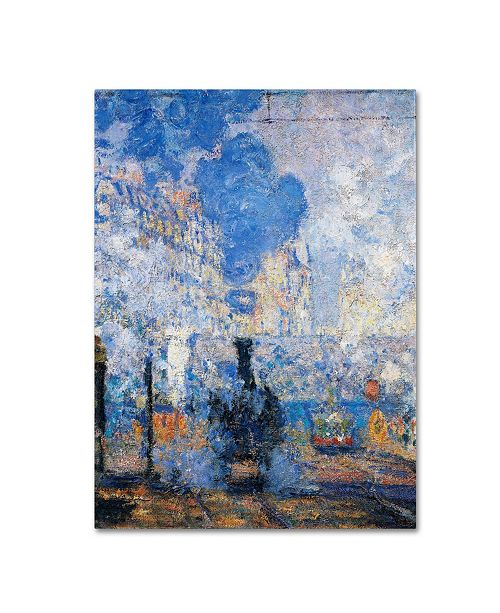 "Trademark Global Claude Monet 'Saint Lazare Station' Canvas Art - 24"" x 18"""