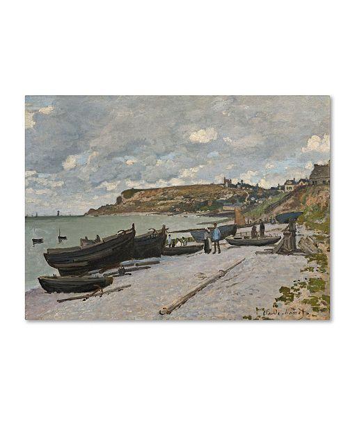 "Trademark Global Claude Monet 'Sainte-Adresse 1867' Canvas Art - 24"" x 18"""