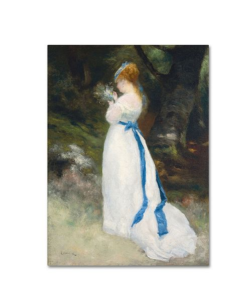 "Trademark Global Pierre Auguste Renoir 'Lady In White' Canvas Art - 32"" x 24"""