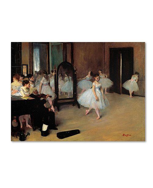 "Trademark Global Edgar Degas 'The School of Dance 1871' Canvas Art - 32"" x 24"""
