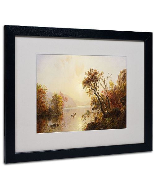 """Trademark Global Jasper Cropsey 'Rowing Out of a Cove 1878' Matted Framed Art - 20"""" x 16"""""""