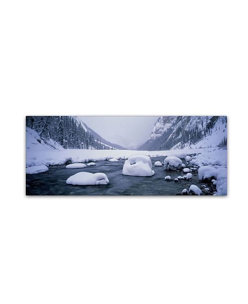 "Trademark Global David Evans 'North Saskatchewan River-Rocky Mountains Canada' Canvas Art - 32"" x 10"""