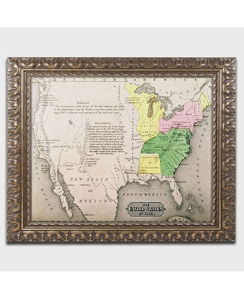 Trademark Global 'Map of the United States in 1803' Ornate ... on cartoon united states, digital map of united states, central plains map united states, framed antique maps, mounted maps of united states, geographic maps rivers united states, paintings of united states, framed usa map, printable map of united states, inset map of the united states, framed historical texas maps, world of united states, framed us map with pins, drawings of united states, framed vintage maps, usa wall maps united states, rand mcnally map of the united states, large map of united states, map of the mountain ranges in united states, framed maps wall,